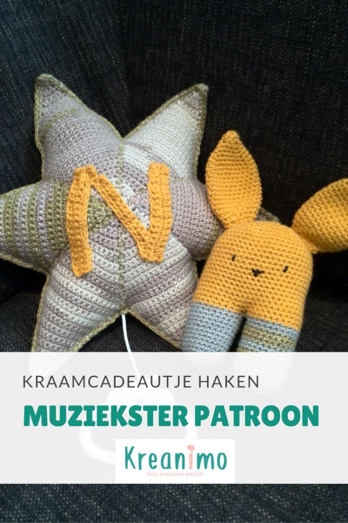 Knuffel Konijn Rammelaar En Muziekster Haken Patronen Crochet