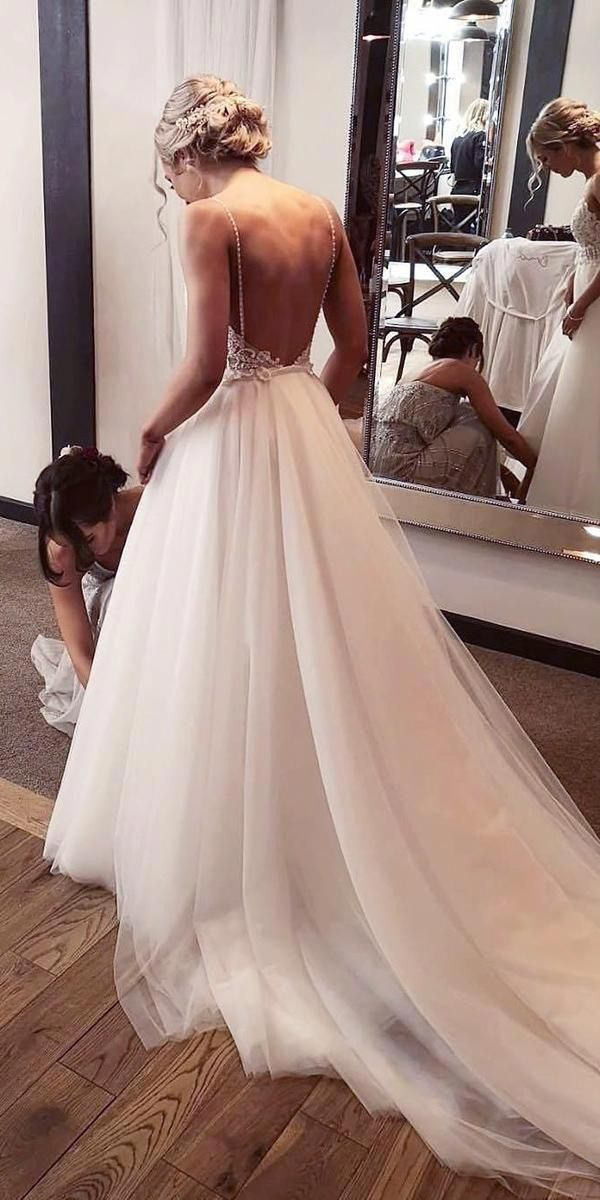 Wedding | Wedding gown backless, Beautiful dresses, Custom