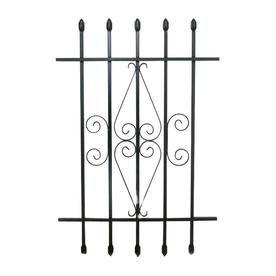 Grisham 24 In X 36 In Black Spear Point Window Security Bar 92010 Window Security Bars Window Bars Window Security