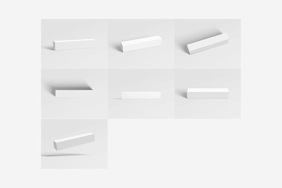 Download Box Packaging Long Rectangle Box Packaging Rectangle Packaging Mockup
