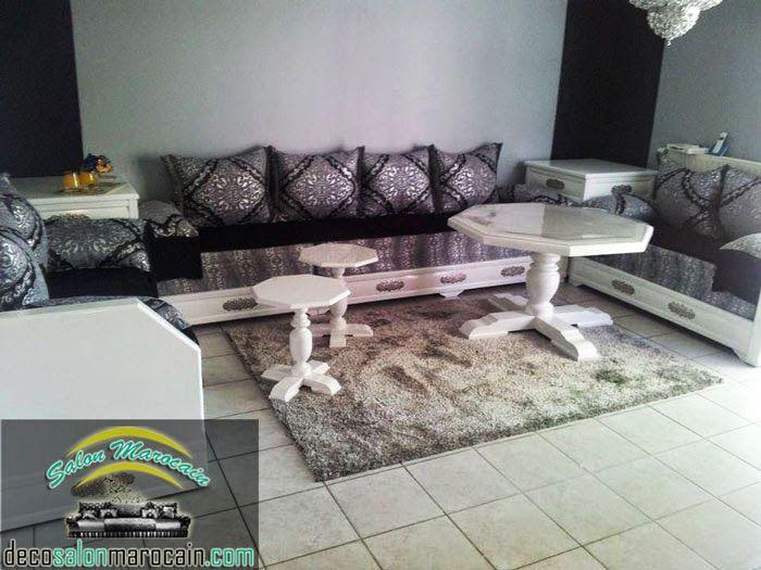 notre salon marocain complet contient tous les l ments en parlant sur les tables de milieux. Black Bedroom Furniture Sets. Home Design Ideas