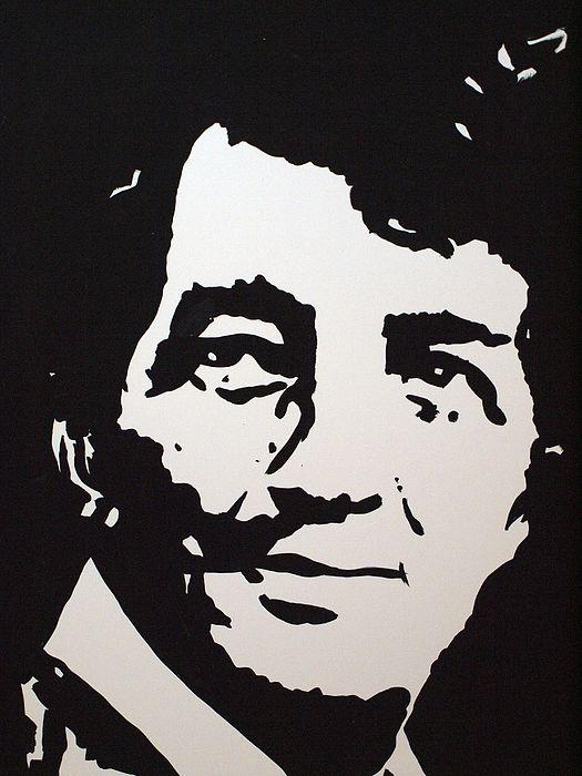 Frank Sinatra stencil laser cut from mylar