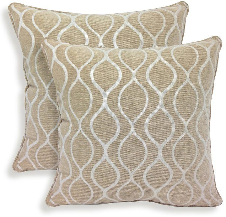 Kohls Decorative Pillows Simple Kohl's Gemma 2Piece Chenille Geometric Throw Pillow Set  Throw Inspiration Design