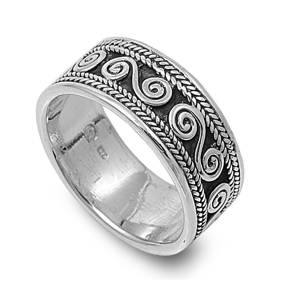 925 Sterling Silver Braided Edges Infinity Symbol 10MM