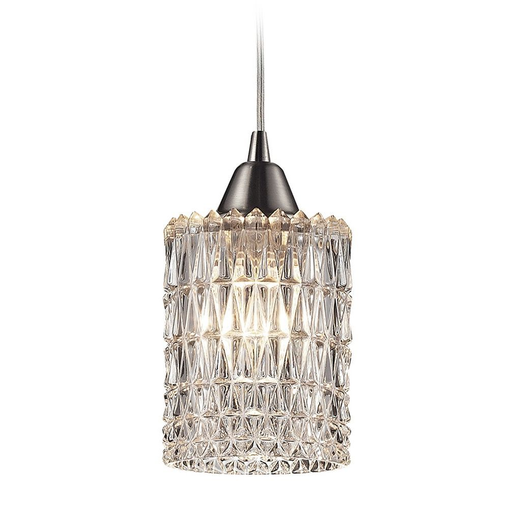 Crystal Mini-Pendant Light with Clear Glass | Mini pendant lights ...