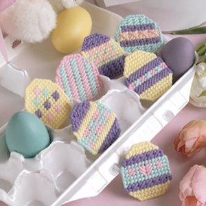Enchanting Eggs Plastic Canvas Patterns