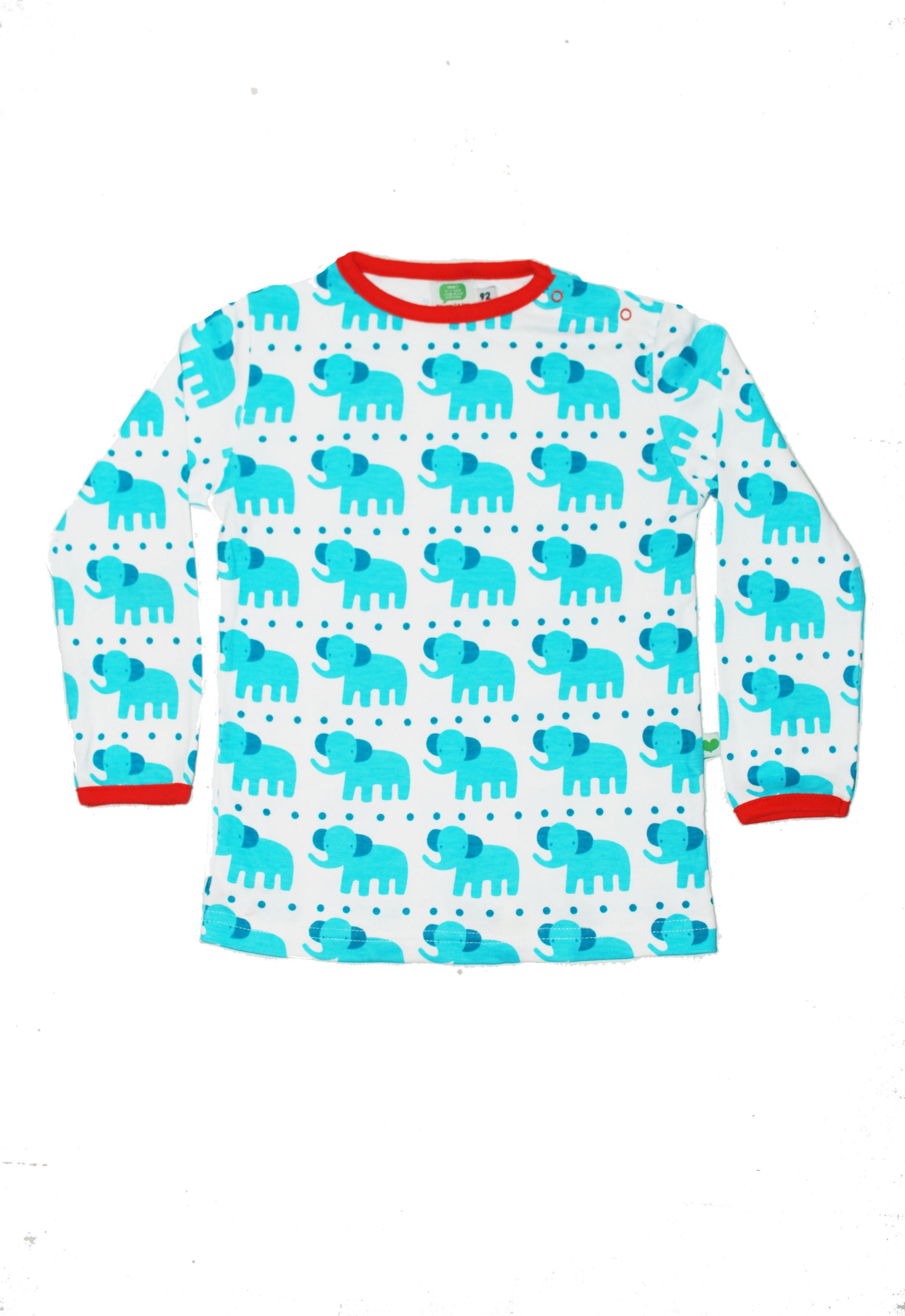 Een lieve longsleeve van Sture & Lisa. Vol met blauwe olifantjes.  Nu online, in de maten 86, 92 en 98.  #kindzoblij #webshop #newin #aw15 #stureandlisa #longsleeve #kruippakje #biologischkatoen #eerlijkekinderkleding #jongenskleding #babykleding