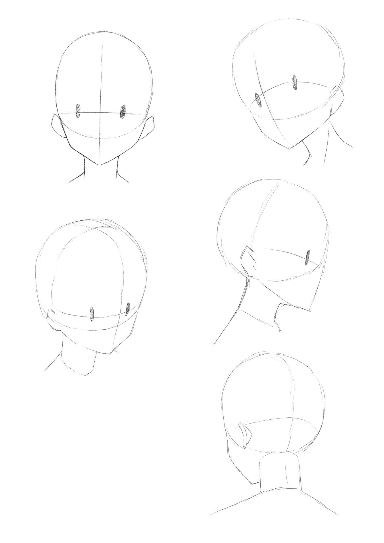 How To Draw Different Angles Of Face Bocetos Bocetos Anime Como Dibujar Una Cara