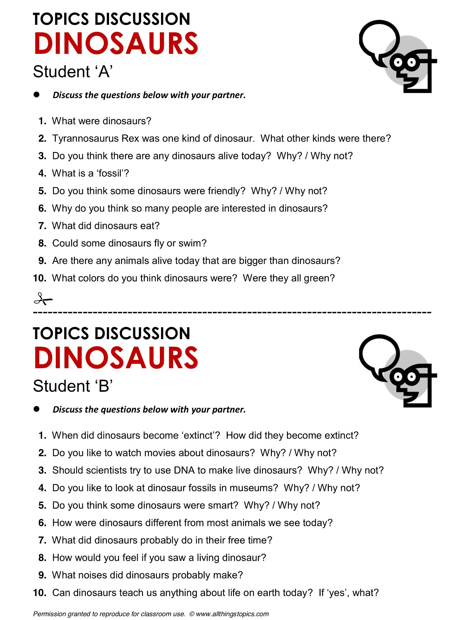 Dinosaurs English Learning English Vocabulary Esl
