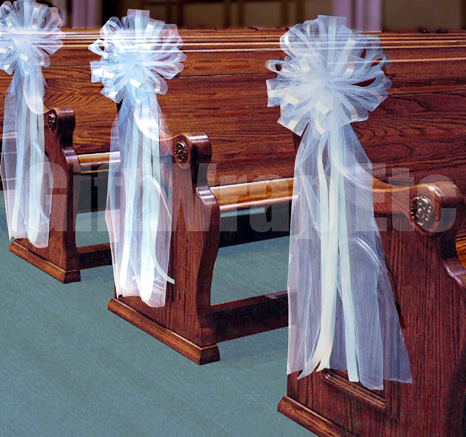 wedding decorations for church chairs pew decorations why don t i how to make bows 10 9107