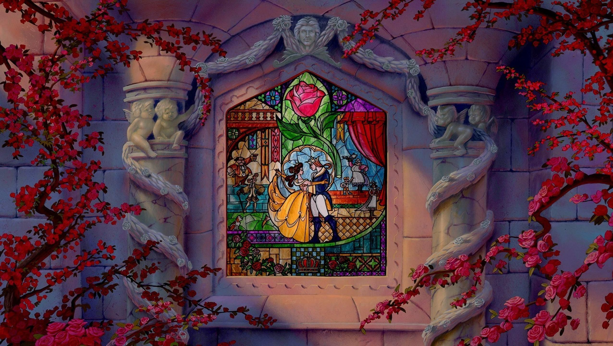 Beauty And The Beast 1991 Desktop Wallpaper In 2020 Beauty