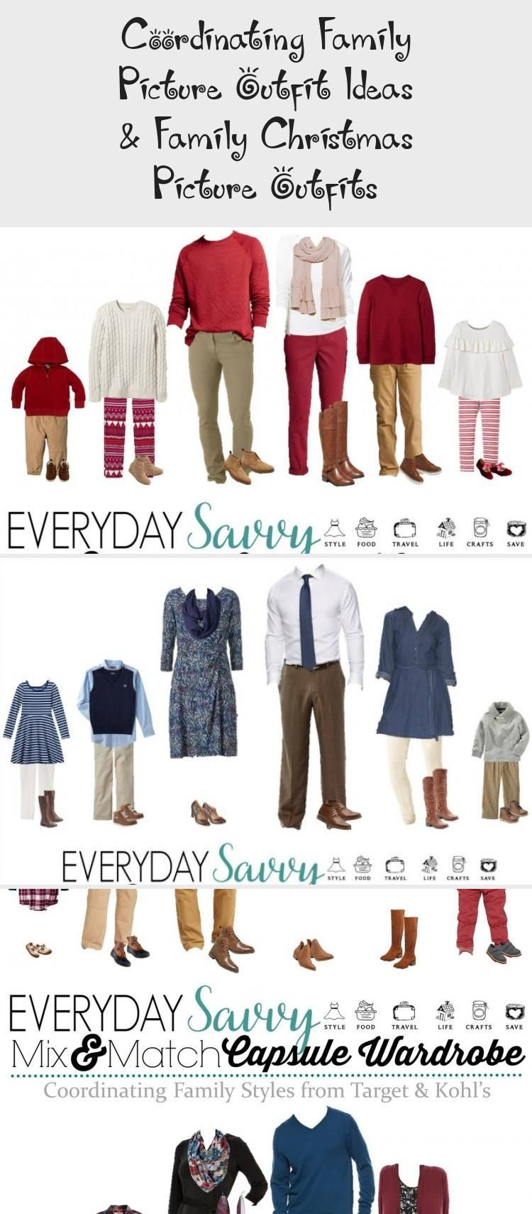 Coordinating Family Picture Outfit Ideas & Family Christmas Picture Outfits - Holidays | ETK #familyphotooutfits