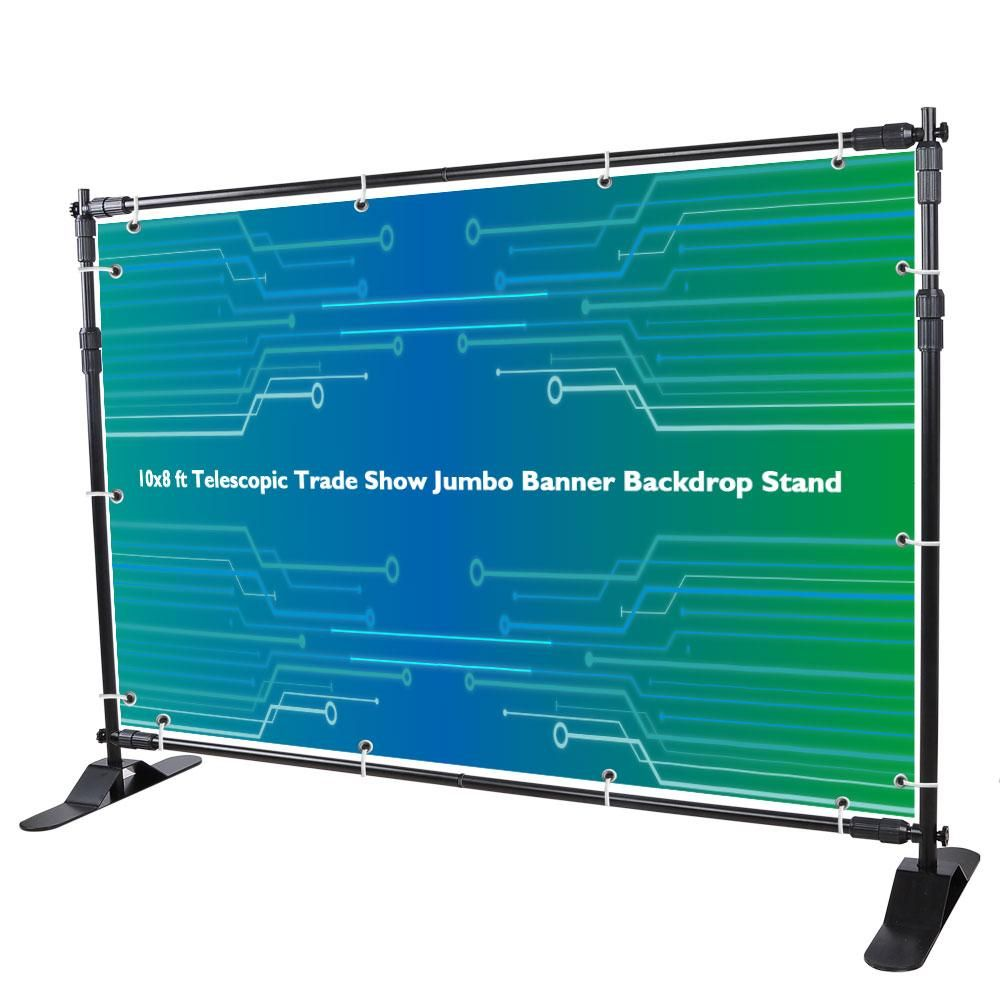 Yescom 10x8 Ft Telescopic Trade Show Jumbo Banner Backdrop Stand Banner Backdrop Backdrop Stand Trade Show