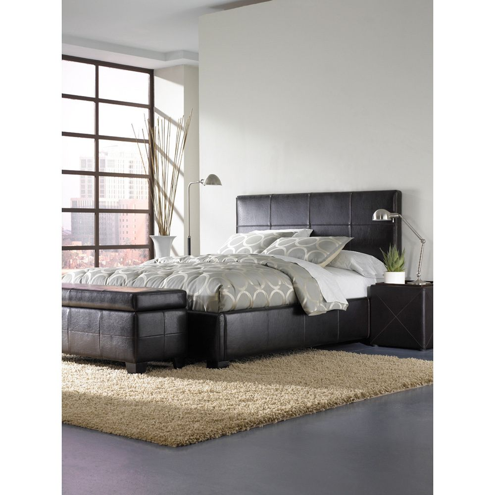 Update your room with this leather queen size storage bed and watch ...