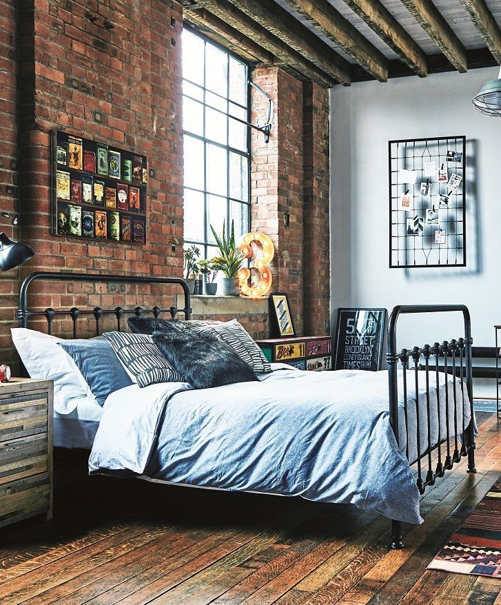 The Keeler bed frame will add a vintage, industrial
