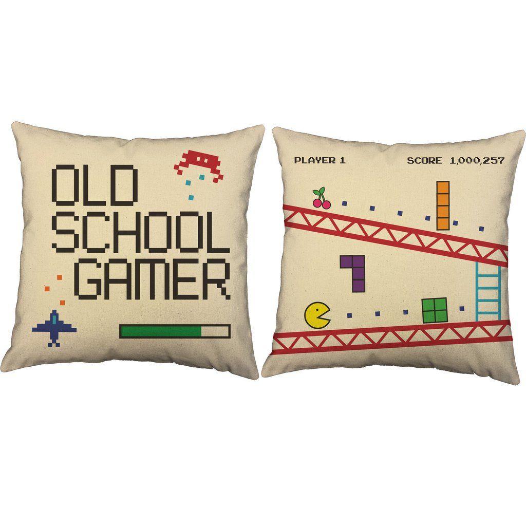 Old School Gamer Video Game Throw Pillows @RoomCraftDecor