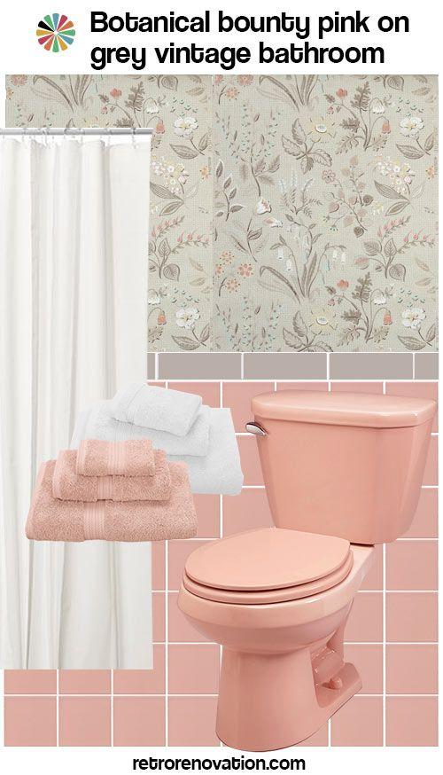 Vintage Pink Bathroom Ideas Vintage Bathroom Tile 171 Photos
