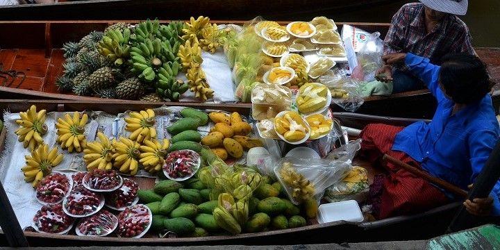 Floating Market, Bangkok, Central Thailand, Asia