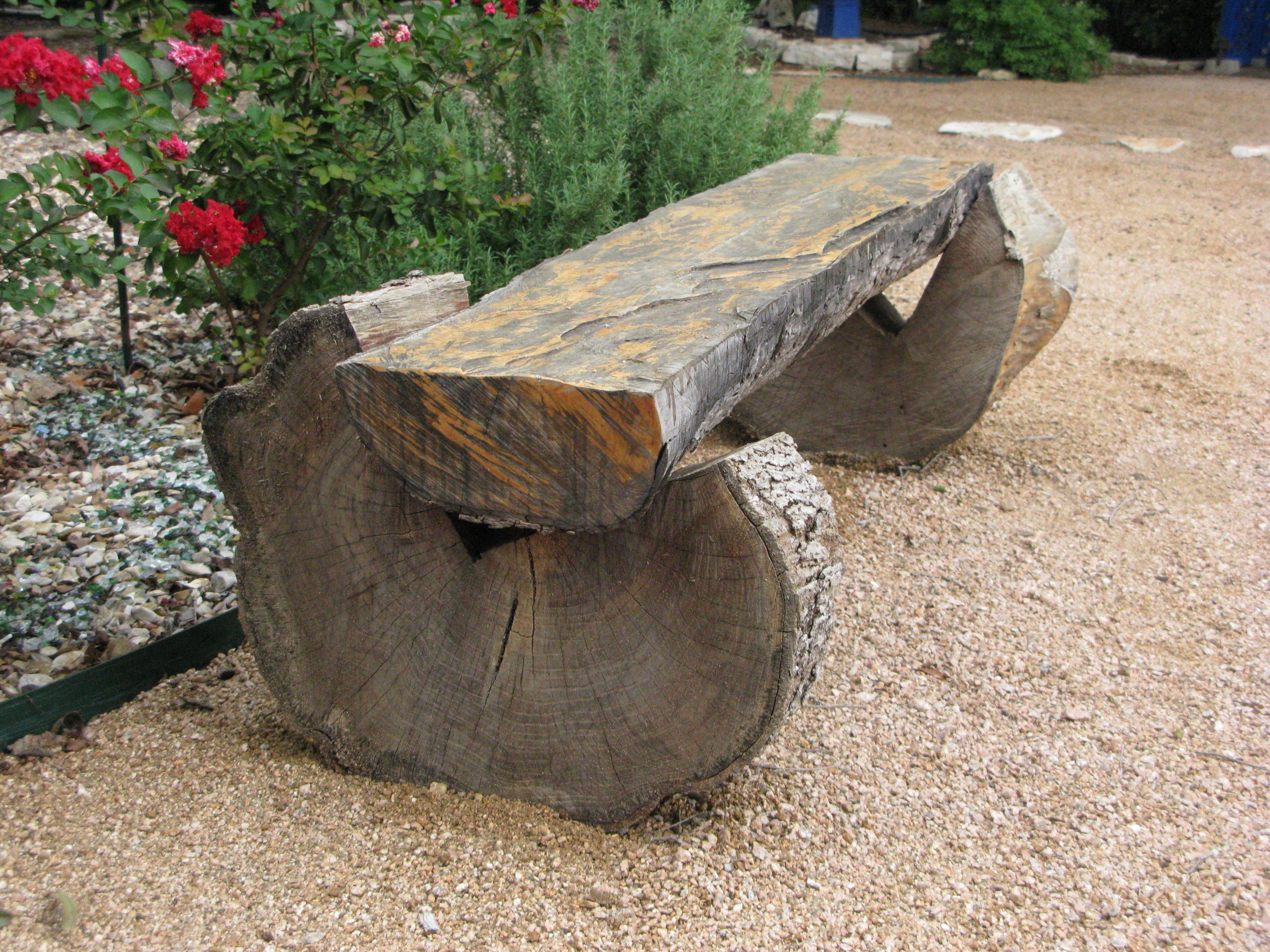 Amazing Log Bench Log Home Decorating Homemade Bench Diy Patio