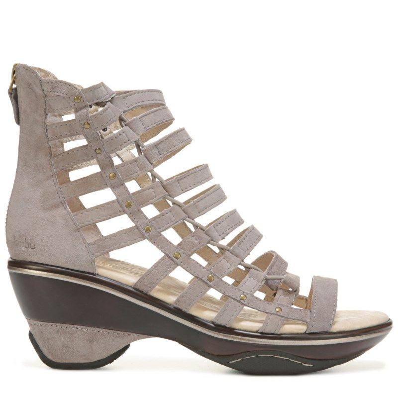 Jambu Women's Brookline Wedge Sandals (Light Taupe Solid) - 11.0 M