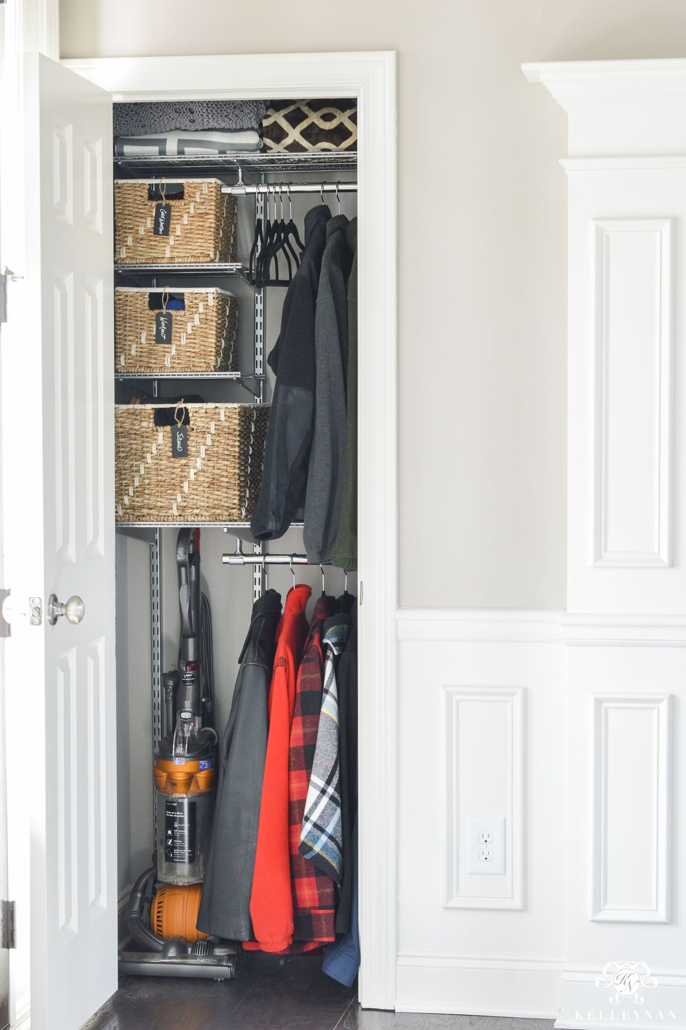 Hat Rack Target Extraordinary Organized Foyer Coat Closet Before And After Makeover  Kelley Nan 2018