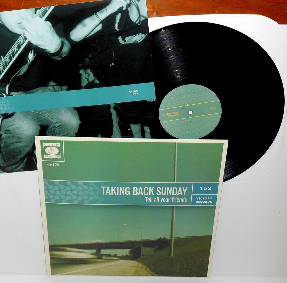 Taking Back Sunday Tell All Your Friends Lp Record Black Vinyl W Lyrics Insert Taking Back Sunday Records Vinyl