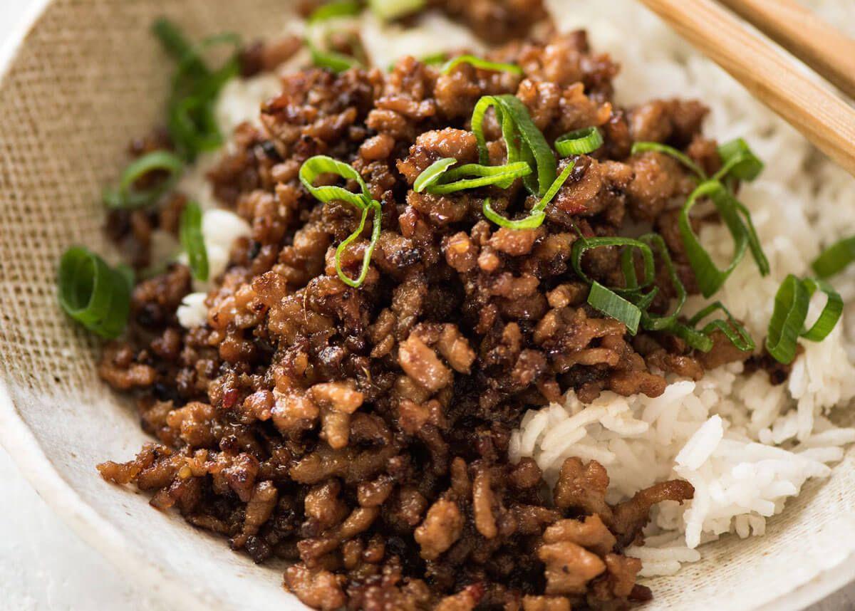 Vietnamese Caramelised Pork Bowls Recipe Ground Pork Recipes Pork Recipes Pork Mince Recipes