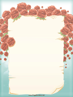 Roses Half Surround This Pretty Floral Border For Valentineu0027s Day, A Love  Letter,. Border TemplatesTemplates FreeFloral ...  Love Letter Templates Free