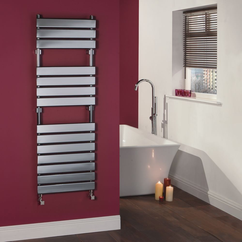 Signelle Designer Flat Panel Chrome Plated Towel Radiator Rail 59 Inch X 19 5 Inch For Closed Loop Systems Towel Radiator Heated Towel Heated Towel Rail