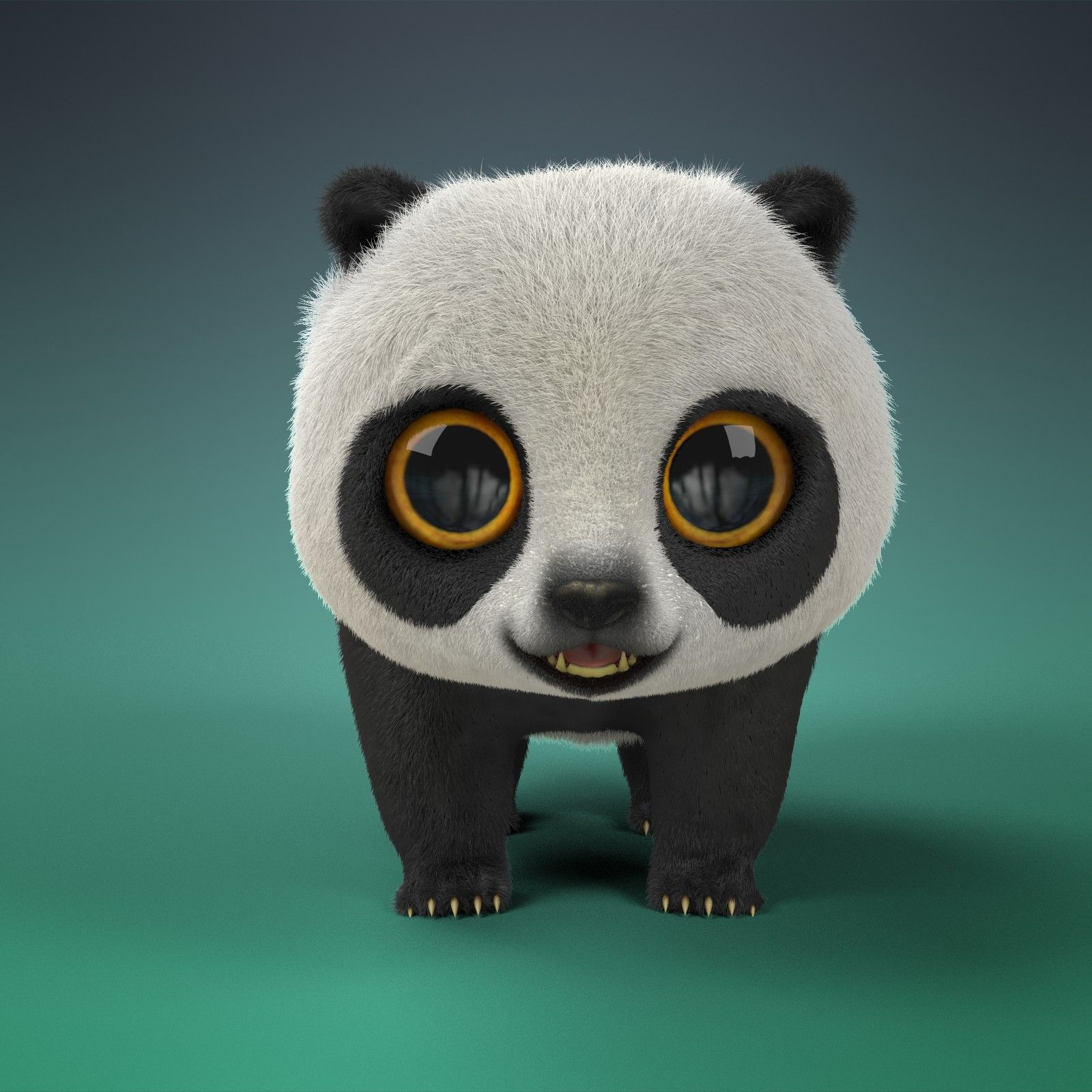ArtStation Cartoon Panda, Hanna Shmakova Cartoon panda