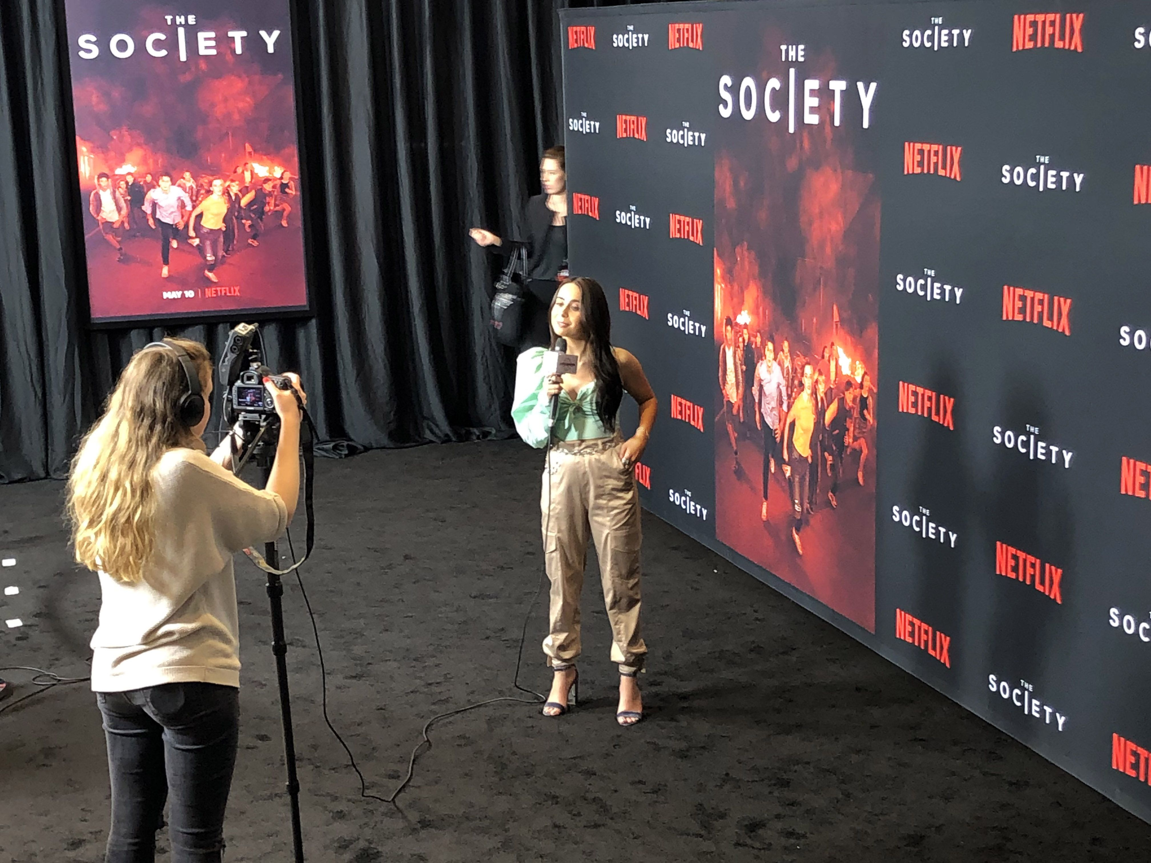 The live interviews at The Society movie premiere from