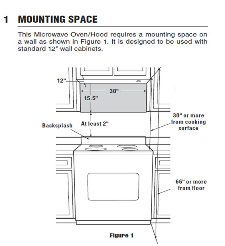 Kitchen Island Distance From Cabinets Over Range Microwave Dimensions - Google Search