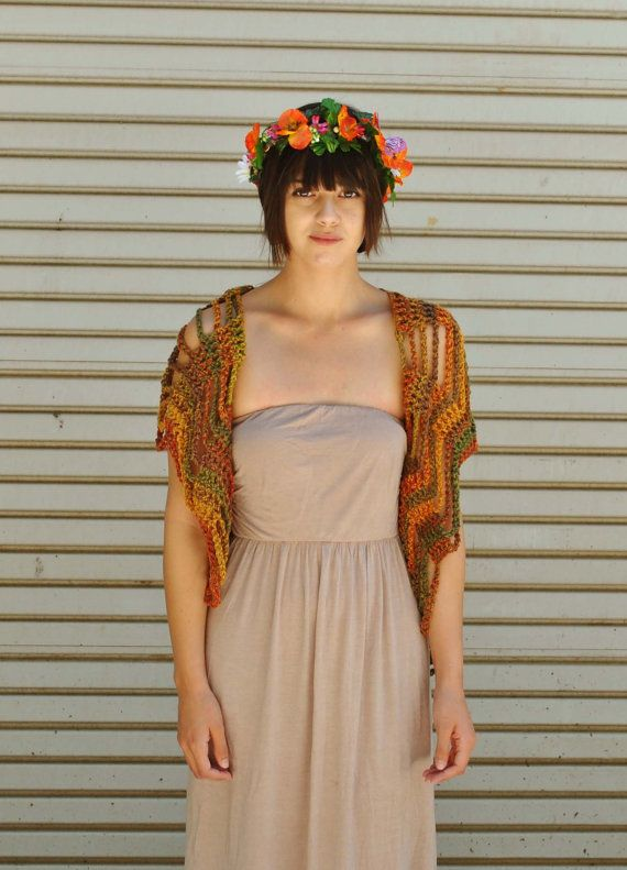 Grateful Dead inspired Festival Vest / Fairy Shawl by retrotimbre, $48.00