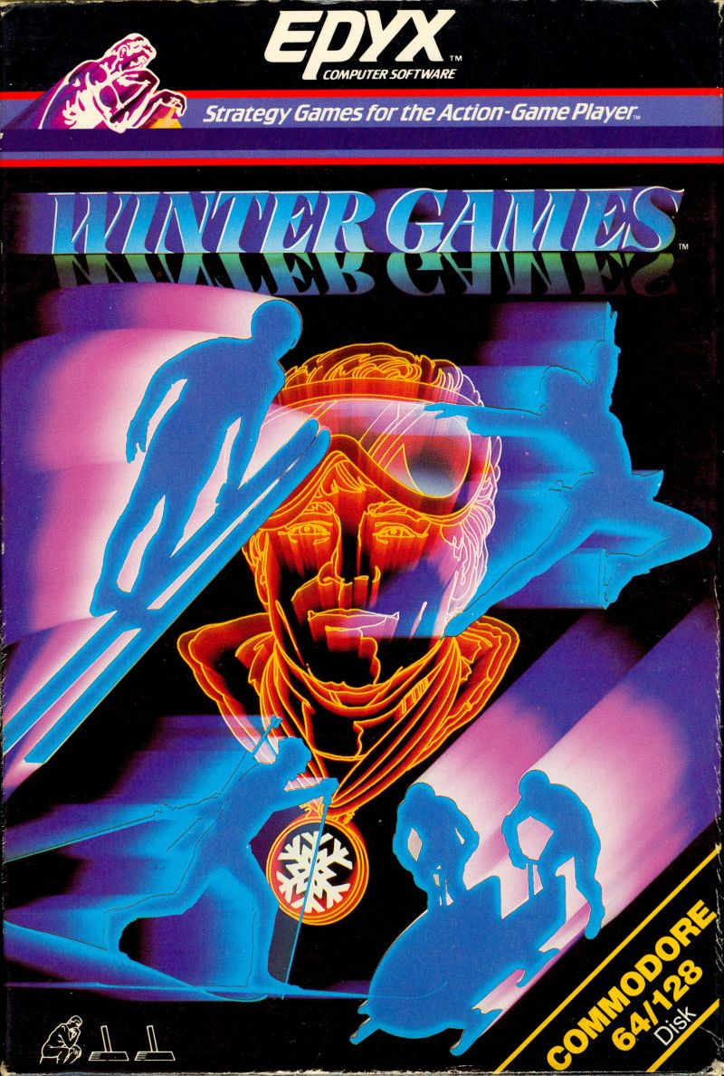 1980s video game cover art from Epyx.