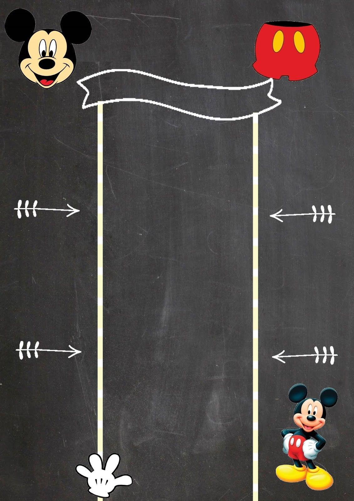 Pin De Ilknur En Denenecek Projeler Invitación De Mickey