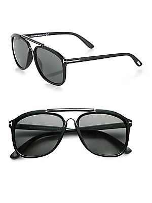 86e5c0e8e3 Tom Ford Eyewear Plastic Aviator Sunglasses