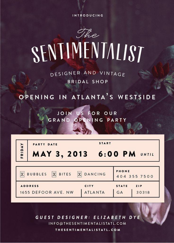 The Sentimentalist Grand Opening Flyer Design + Branding - grand opening flyer