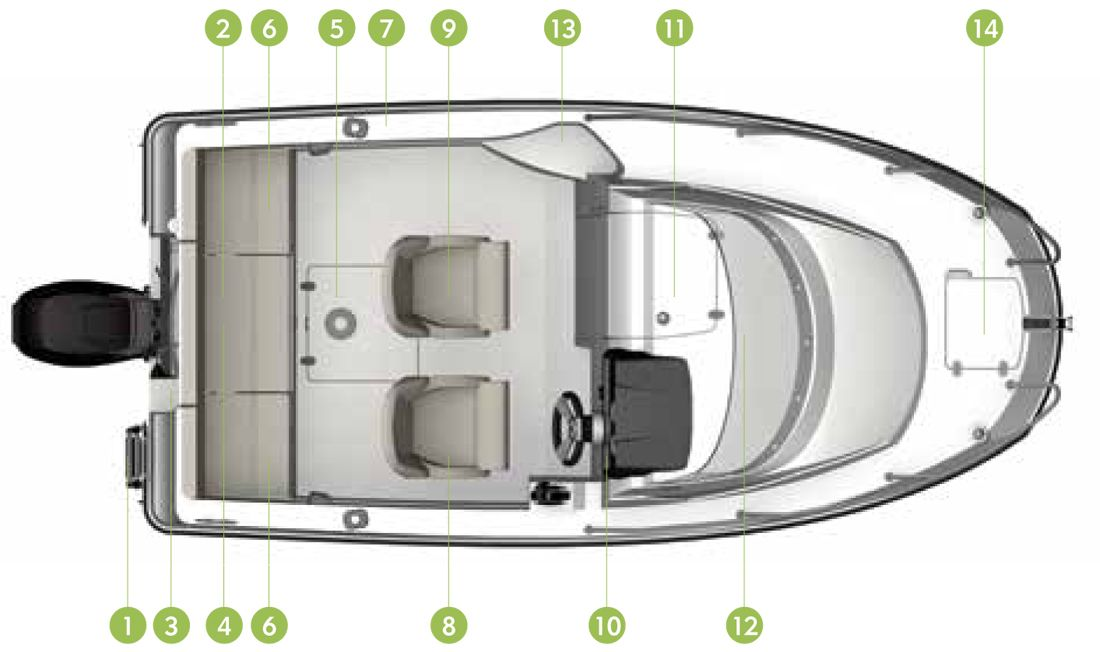 New Activ 455 Cabin Quicksilver Motorboats Stylish Practical