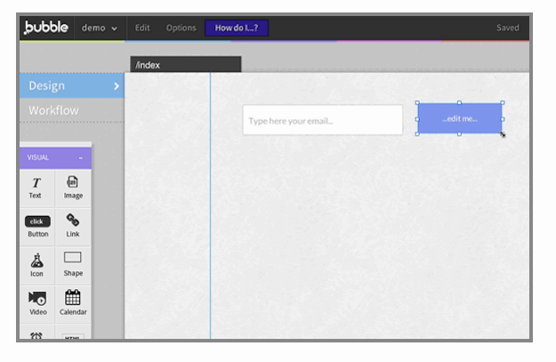 Bubble visual programming tool that lets you build web