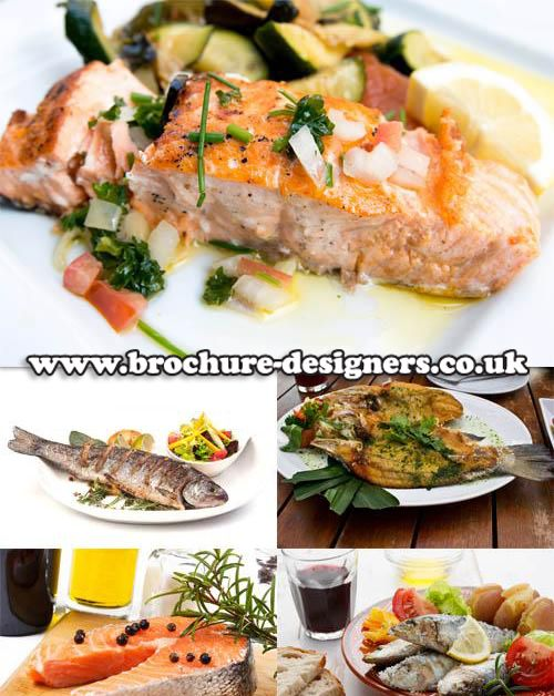 fish dishes images suitable for fish restaurant brochure or menu - restarunt brochure