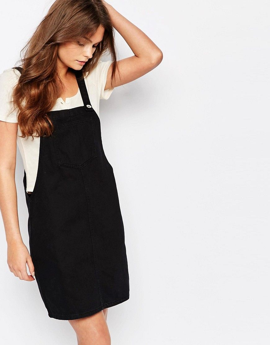 16781b73a757be New Look Denim Overall Pinny Dress