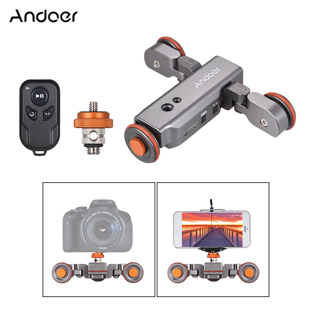 Hot Offer Andoer L4 PRO Camera Video Dolly Scale Electric
