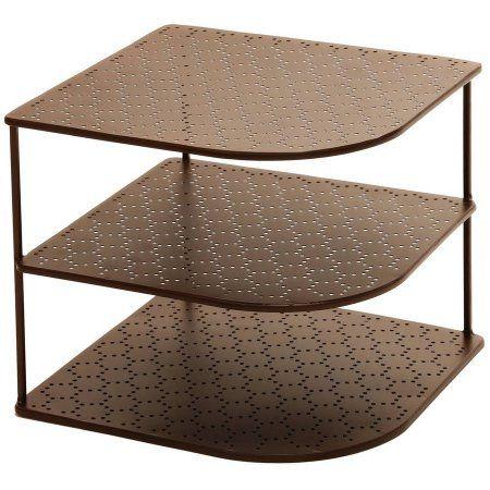 Seville Classics 3 Tier Corner Shelf Counter And Cabinet Organizer