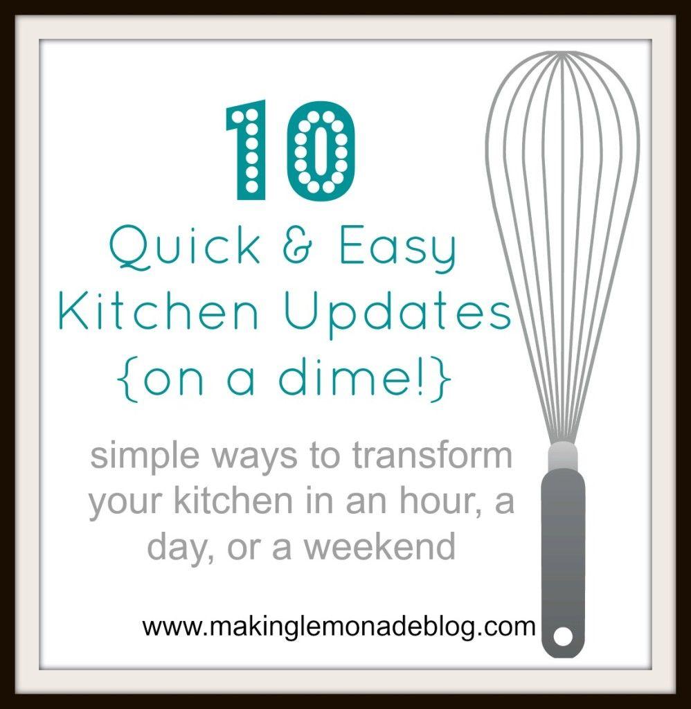 10 Easy Kitchen Updates On A Dime Diy Kichen Decor