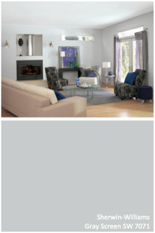 Sherwin Williams Gray Screen Sw 7571 Interior Paint Colors For