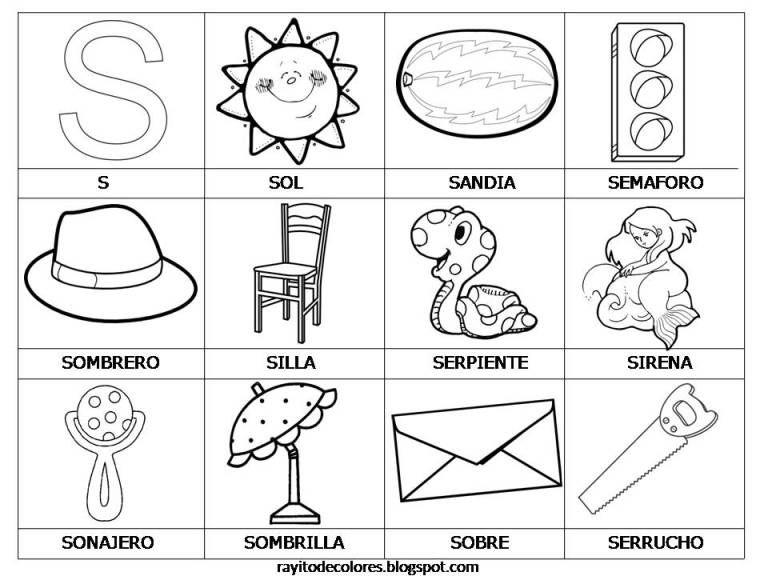 Tarjetas De Lectura Del Abecedario Actividades Con La Letra S Actividades De Letras Lectura Y Escritura