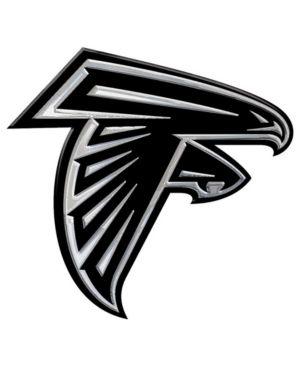 Stockdale Atlanta Falcons Auto Sticker Silver Atlanta Falcons Logo Atlanta Falcons Atlanta Falcons Football