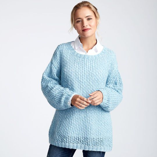Loops & Threads® Sugarspun™ Breezy Knit Tunic | PULLOVERS AND TOPS ...