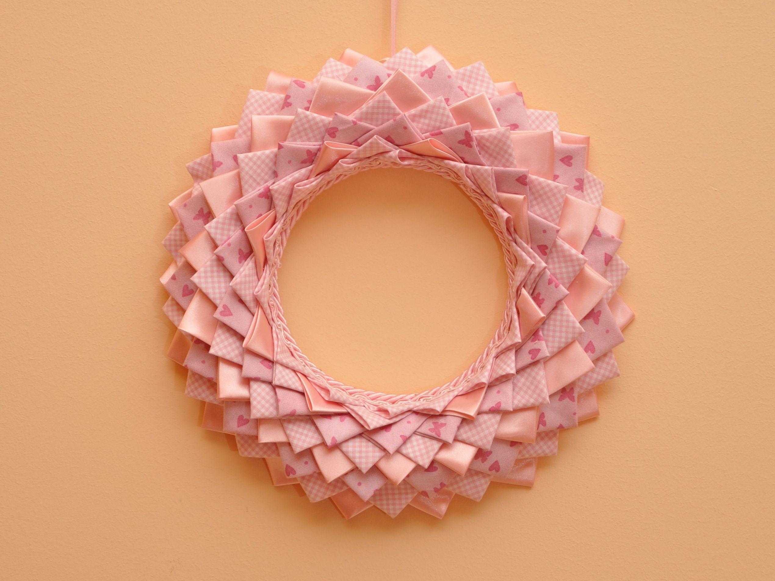 Tavolo Nascita ~ Ghirlanda nascita realizzabile in rosa e celeste la ghirlanda