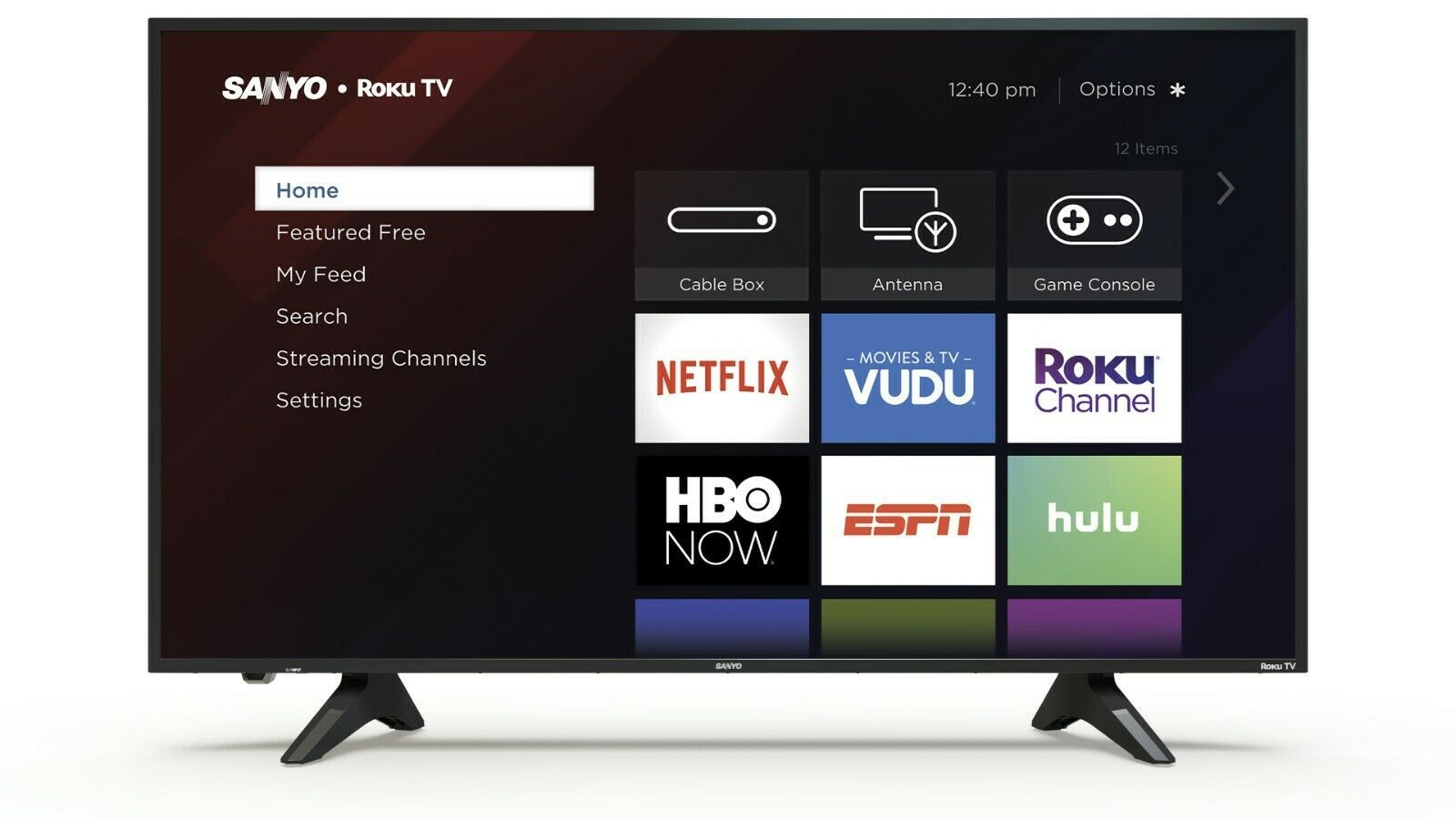 Sanyo 40 Class 2k 1080p Roku Smart Led Tv Fw40r49f Smart Tv